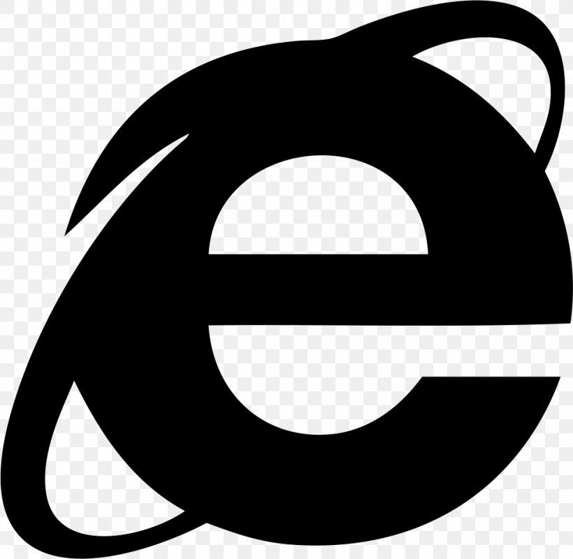 Internet Explorer 10 Web Browser, PNG, 981x958px, Internet Explorer, Artwork, Black, Black And White, Email Download Free