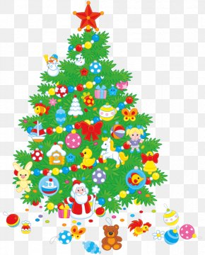 Christmas Tree Covered With Gifts - Santa Claus A Visit From St. Nicholas Christmas Tree Gift Clip Art PNG
