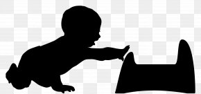 Silhouette - Silhouette Child Infant Clip Art PNG