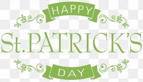 Happy Saint Patrick's Day PNG Clip Art Image - Saint Patrick's Day Digital Scrapbooking Clip Art PNG