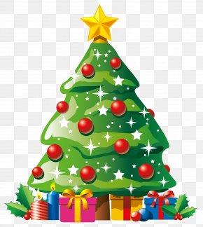 Xmas Tree Cliparts - Santa Claus Gift Christmas Tree Clip Art PNG