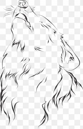 The Jungle Book - Gray Wolf Line Art Drawing The Jungle Book Sketch PNG