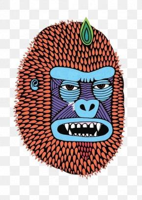 Cartoon Mouth Orangutan Head - Artist Painting Drawing Illustration PNG