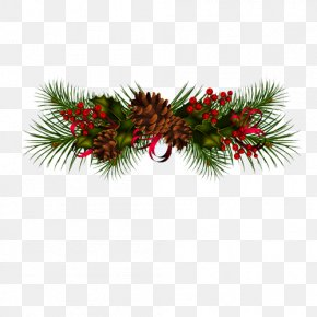 Creative Christmas - Conifer Cone Christmas Clip Art PNG