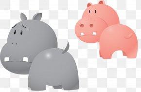Cartoon Hippo Cartoon Vector - Hippopotamus Cartoon PNG