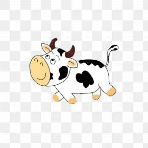 Cartoon Cow - Cattle Cartoon Comics PNG