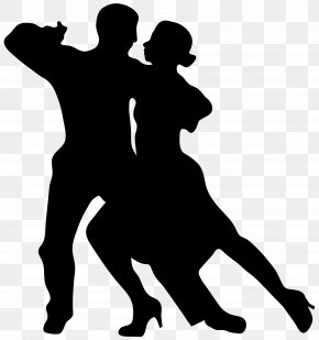 Dancing Couple Silhouette Clip Art Image - Dance Silhouette Drawing Clip Art PNG