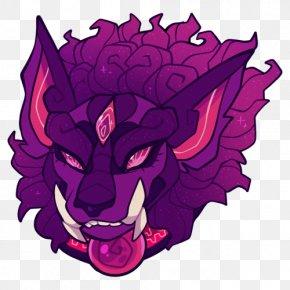 Lion Dance - Magenta Violet Art Purple Pink PNG