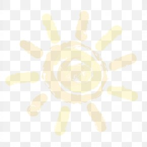 Cartoon Sun - Yellow White Pattern PNG