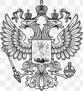 Russia - Coat Of Arms Of Russia Russian Empire Double-headed Eagle T-shirt PNG