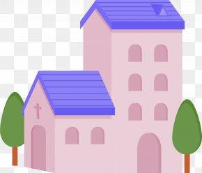 Flat Creative Church - Church Chapel Christianity Icon PNG