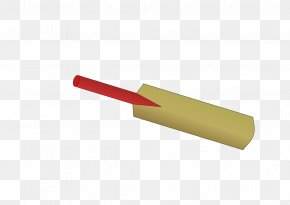 Cricket Bat Picture - Red Material Angle PNG