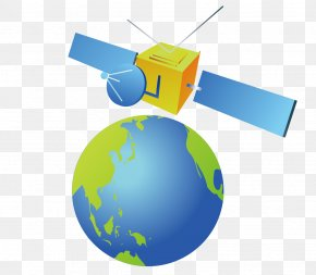 Earth And Satellite Monitors - Earth Communications Satellite PNG