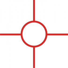 It - Red Dot Sight Reticle Reflector Sight Clip Art PNG