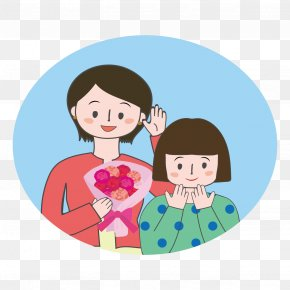 Mother Illustration - Mother's Day Cartoon お母さん PNG