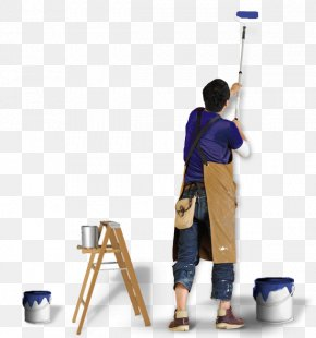 Painter - Paint Rollers House Painter And Decorator Painting Wall PNG
