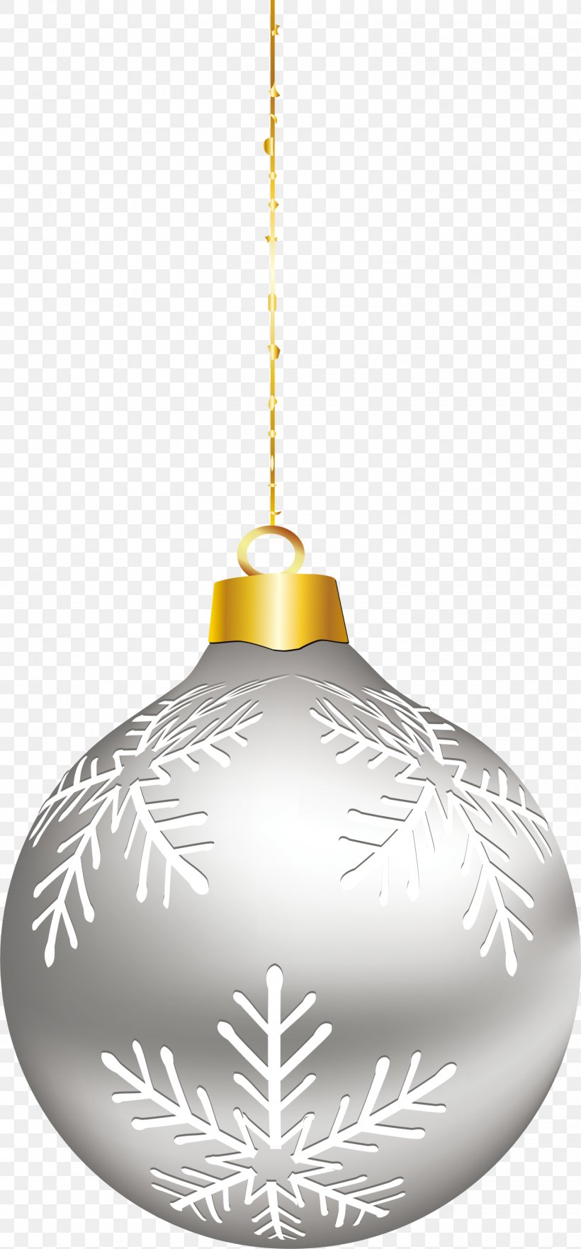 Silver Christmas Ornaments Png