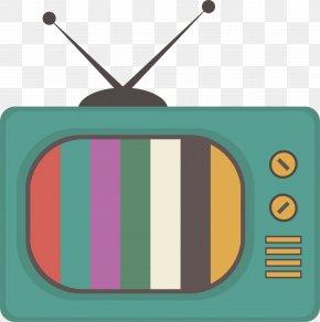 Retro Retro Old TV - Television PNG