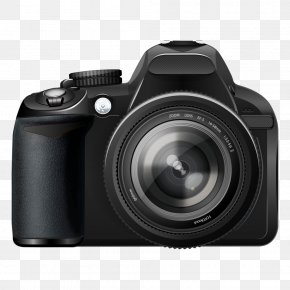 Black Digital Camera - Microphone Digital Camera Single-lens Reflex Camera PNG