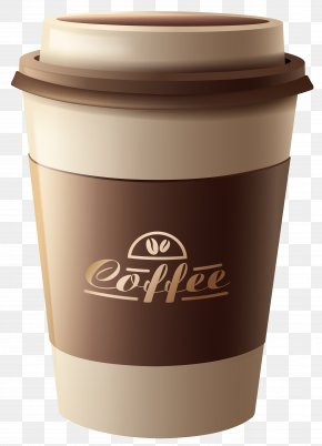 Brown Plastic Coffee Cup Clipart Image - White Coffee Tea Espresso Coffee Cup PNG