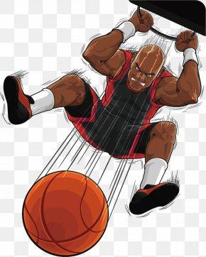 Creative Basketball Players - Basketball Slam Dunk Chicago Bulls PNG