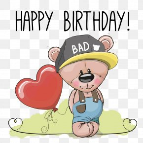 Cubs Hat - Bear Birthday Greeting Card Clip Art PNG