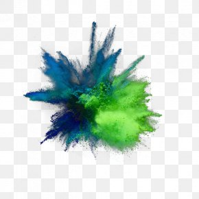 Green And Fresh Explosion Dust Effect Elements - Turquoise Feather Computer Wallpaper PNG