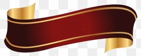 Red And Gold Banner Clipart Image - Image File Formats Lossless Compression Raster Graphics PNG