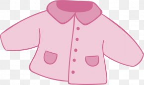 Pink Baby Coat - Pink Cotton Textile PNG