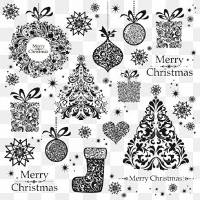 Christmas Tree And Decoration - Christmas Tree Christmas Card Pattern PNG