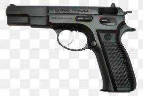 Beretta Handgun Image - CZ 75 Česká Zbrojovka Uherský Brod Service Pistol Firearm PNG