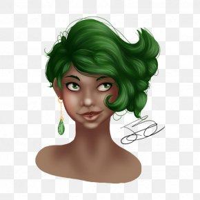 Psd Shading - Forehead Hair Coloring Cartoon Green PNG