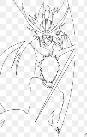 Ulquiorra - Line Art Drawing White Symmetry Pattern PNG