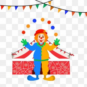 Clown - Pirate Ship Cartoon Drawing Illustration PNG