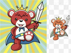 A Graphic Design; A Bear With A Razor Blade - Bear Graphic Design Illustration PNG