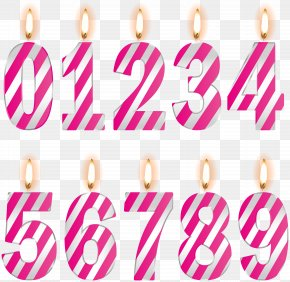 Numbers Birthday Candles Pink Clip Art Image - Image File Formats Lossless Compression PNG
