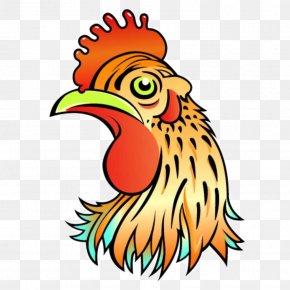 Colored Cartoon Chicken - Chicken Rooster Cartoon Clip Art PNG