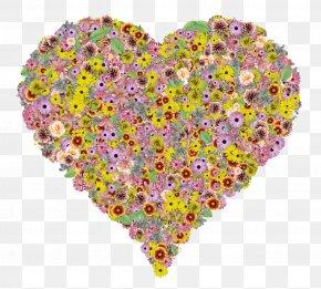 Flower Heart - Flower Clip Art PNG