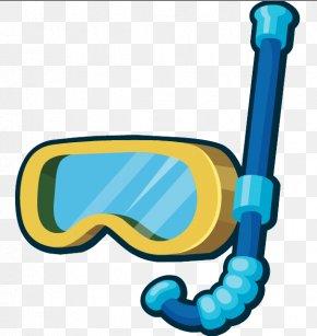 Snorkel Frame Diving Mask - Snorkeling Image Clip Art Diving Mask PNG