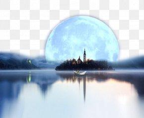 The Moon And The Sea - Windows Spotlight Microsoft Windows Windows 10 Wallpaper PNG