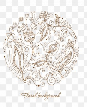 Artwork By Flowers - Drawing Pattern PNG