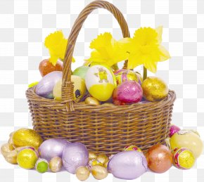 Easter - Chocolate Truffle Chocolate Cake Egg In The Basket Easter PNG