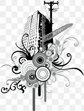 Vector Illustration Skyscrapers - Euclidean Vector Illustration PNG