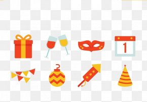 Ribbon Mask Festival Calendar - Baby New Year Christmas Icon PNG