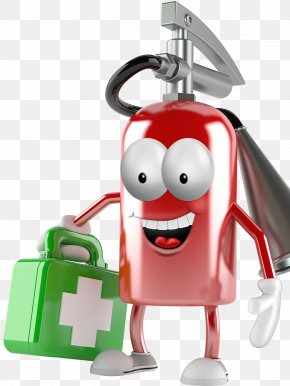 Cartoon Fire Extinguisher - Fire Extinguisher Cartoon Firefighting PNG