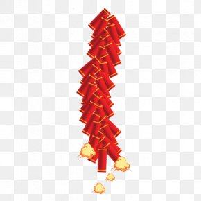 Chinese New Year - Firecracker Chinese New Year Clip Art PNG