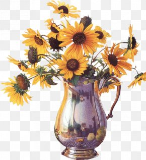 Sunflower - Common Sunflower Flower Bouquet Clip Art PNG