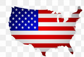Creative American Flag Map - Florida Flag Of The United States Map PNG