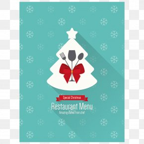 Blue Vector Menu - Menu Christmas Restaurant PNG
