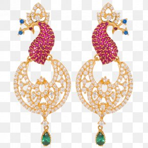 Jewellery - Earring Lalithaa Jewellery Gemstone Jewelry Design PNG